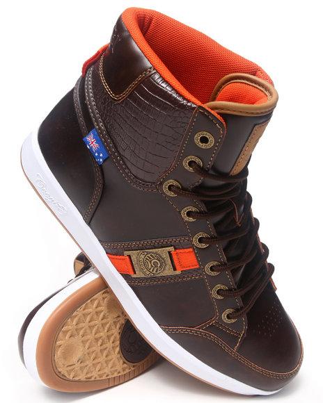 COOGI Brown Pyro Faux Croc Sneaker