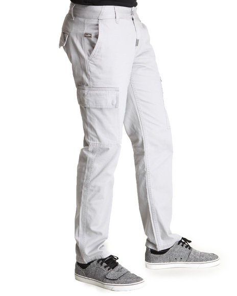 Lrg - Men Grey Lickshot Cargo True-Straight Pants