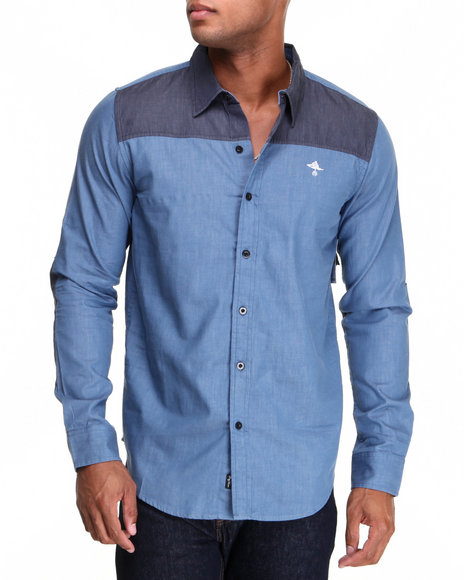 Lrg - Men Blue New Age Dons L/S Button-Down