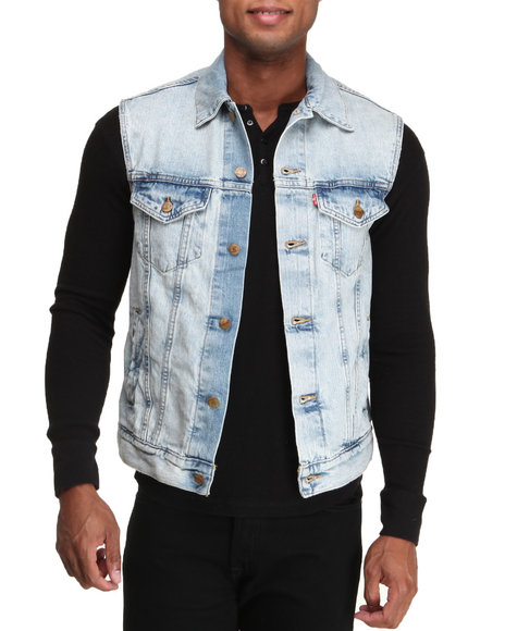 Levi's Light Wash Surf Love Denim Vest