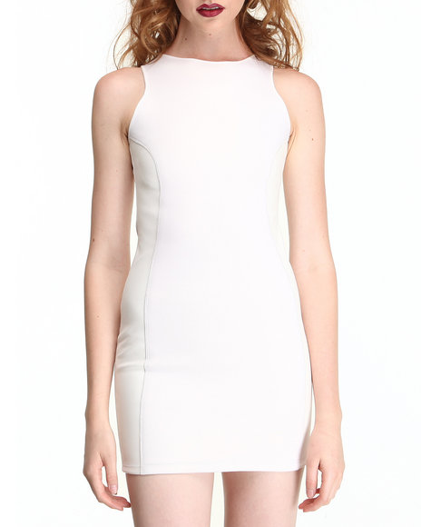 This Is A Love Song - Women White Eye Of The Tiger Dress - $80.99
