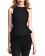 Women - Gafa Peplum Top