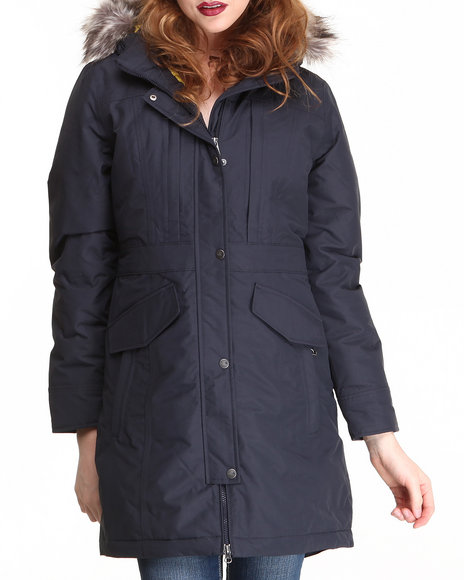 The North Face Dark Blue Insulated Kiara Parka