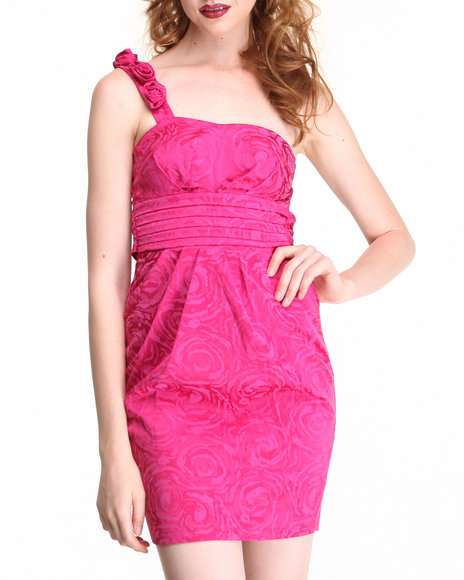 Fashion Lab - Women Pink Rose Strap Dress - $9.99