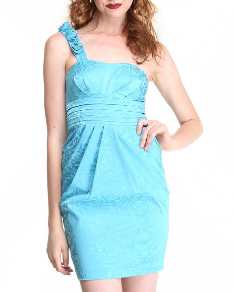Fashion Lab - Women Blue Rose Strap Dress