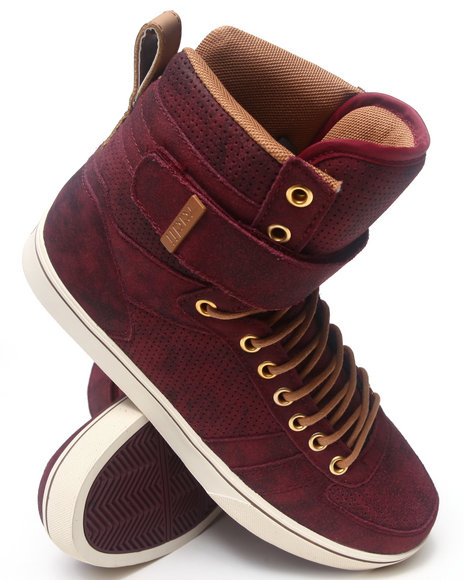 Radii Footwear - Men Maroon Moonwalker Sneakers