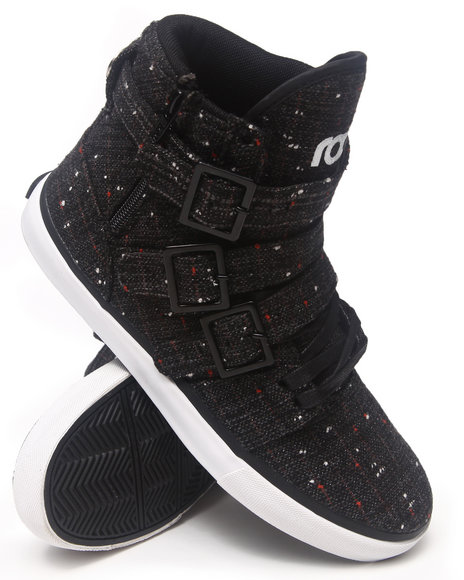 Radii Footwear - Men Black Straight Jacket Vlc Sneakers