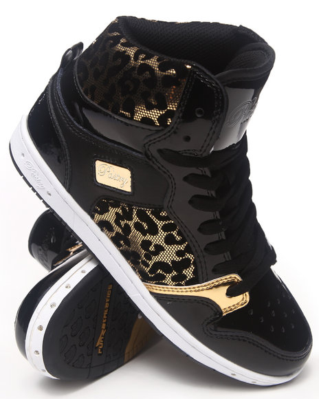 Ur-ID 212678 Pastry - Women Black,Gold Glam Pie Foil Cheetah Sneaker