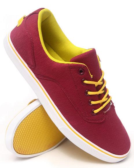 Radii Footwear - Men Maroon Noble Low Sneakers