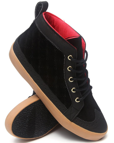 Pastry Black Biscotti Quilted Sneaker