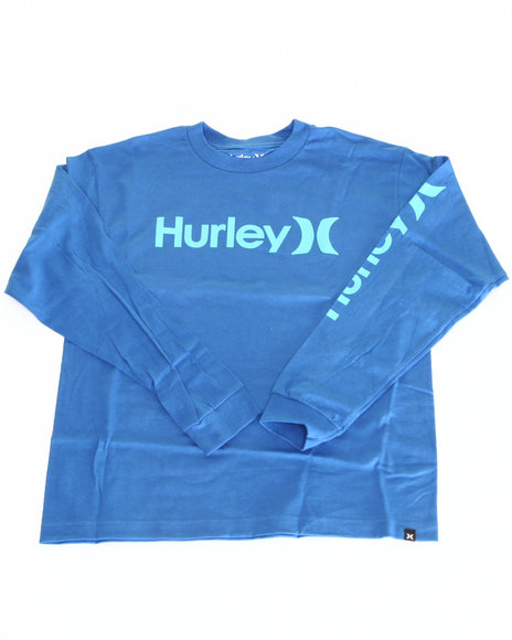 Hurley Boys Blue One & Only L/S Tee (8-20)