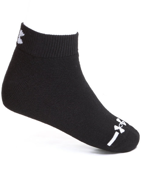 Under Armour Men Charged Cotton Lo Cut Socks (6 Pair) Black Large