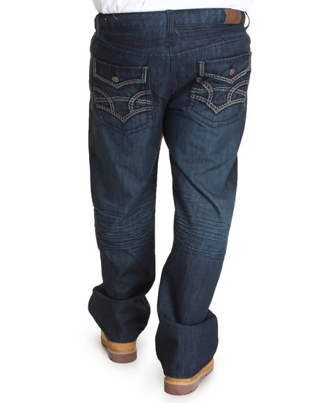 Basic Essentials - Men Dark Wash Mercerized Denim Jeans (B&T)