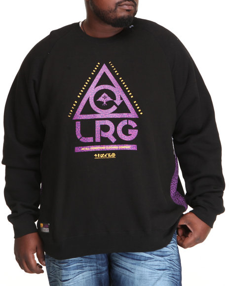 Lrg - Men Black Gritstone Crewneck Sweatshirt (B&T)