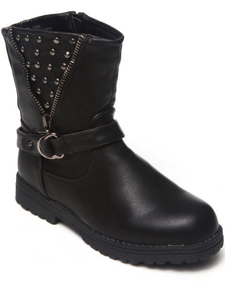 Kensie Girl Girls Black Studded Bootie (11-4)