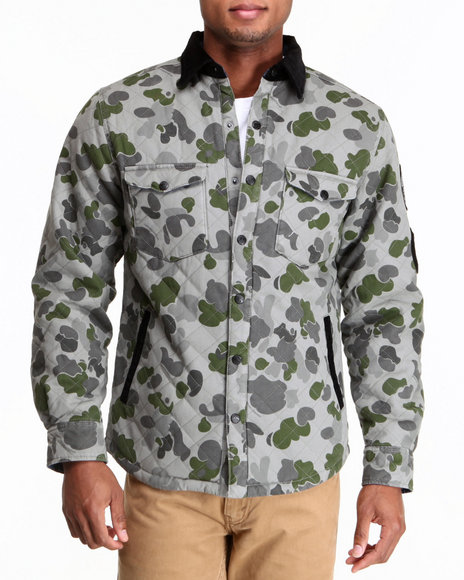 Crooks & Castles - Men Camo Problem Solvers Woven Jacket