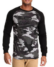 Men - Camo/Neon Print Raglan Shirt
