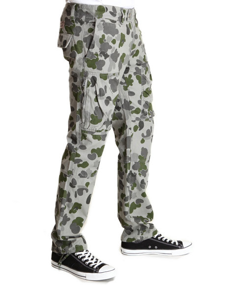 Crooks & Castles - Men Camo Problem Solver Cargo Pant