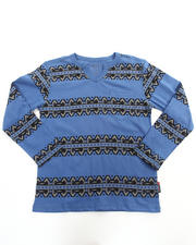 Henleys - ROLL SLEEVE AZTEC TOP (8-20)