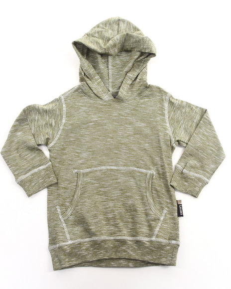Arcade Styles Boys Olive Slub Jersey Hooded Pullover Top (2T-4T)