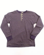 Tops - STRIPED HENLEY (8-20)