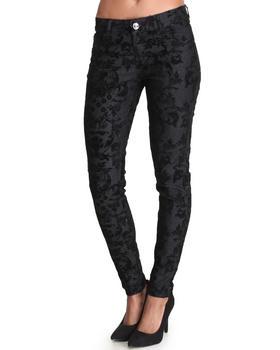 Fashion Lab - Tippy Flock Skinny Jean Pants w/print detail