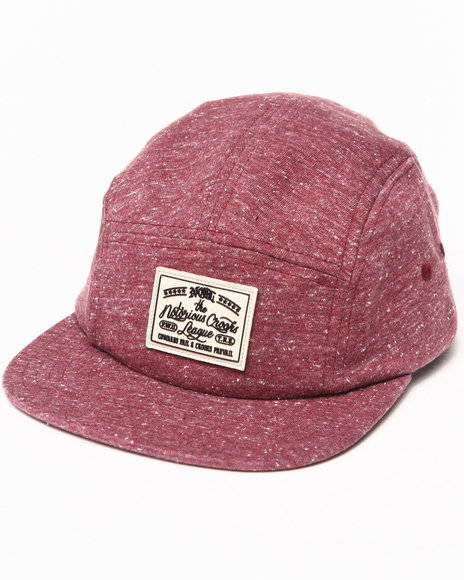 Crooks & Castles Ncl 5 Panel Cap Red
