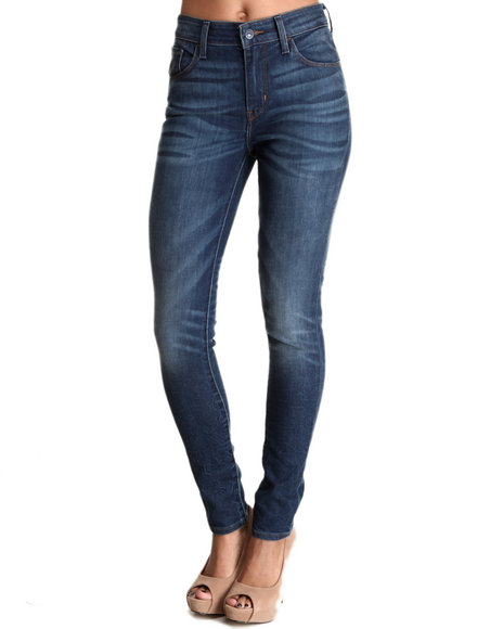 Levi's Dark Blue Hi Rise Skinny Jean Blue Acres Without Scratches