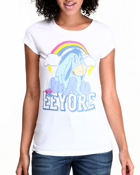 Graphix Gallery - Women White Eeyore Printed Tee