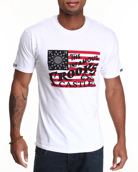 Crooks & Castles White Vintage Flag T-Shirt
