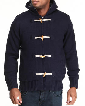 Buyers Picks - Plaid Lined Toggle Sweater Jacket