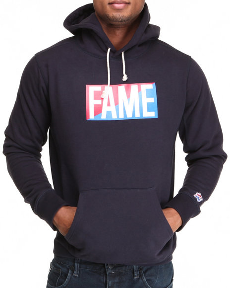 Hall of Fame Navy Collegiate Split Pullover Fleece Hoodie