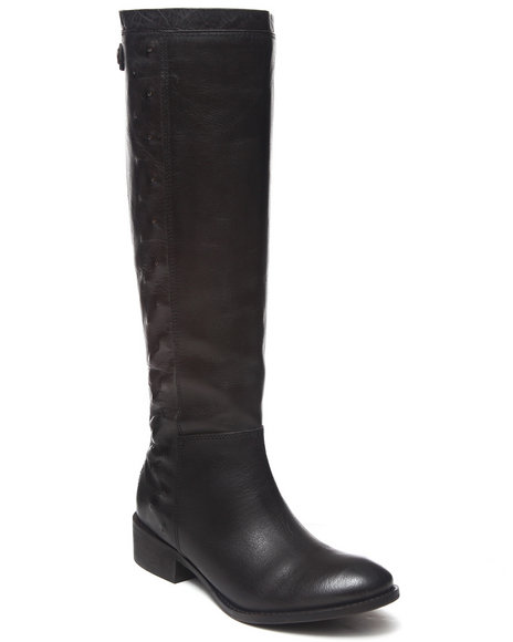 Naughty Monkey - Women Black Zip Back Leather Boot