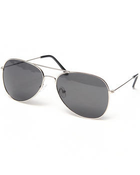 "Basic Essentials - ""Silver"" Aviator Sunglasses"