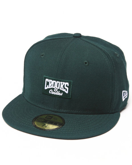 Crooks amp Castles Men Core Logo C Fitted Cap Green 7 18