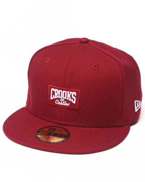 Crooks & Castles - Men Red Core Logo C Fitted Cap