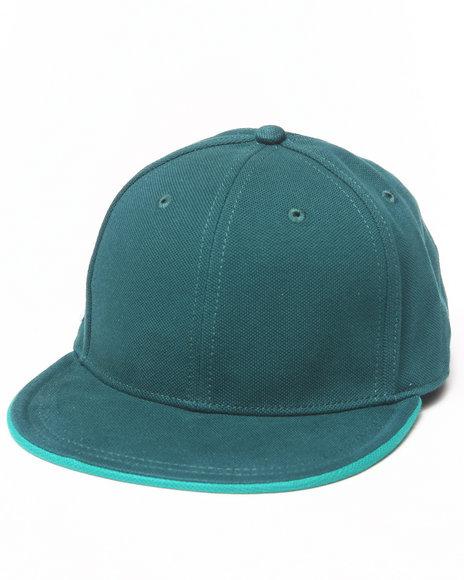 Lacoste L!Ve Cotton Pique Snapback Cap Green