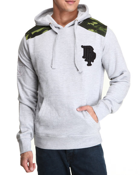 Blac Label Men Grey Moscow Pullover Hoodie