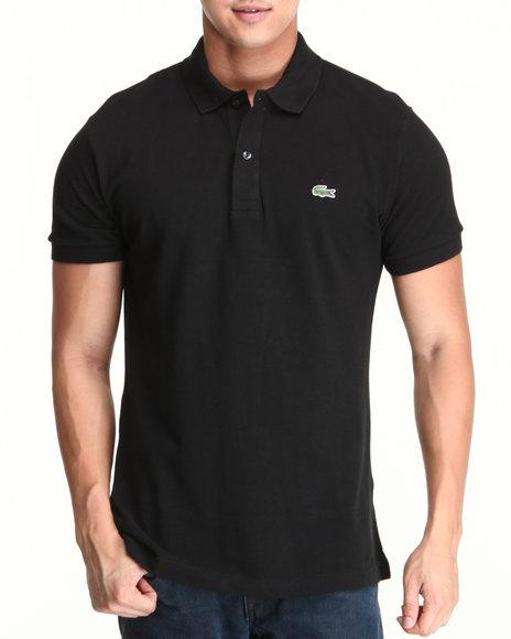 Lacoste - Men Black S/S Slim Fit Pique Polo