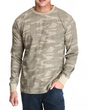 Men - Full Camo SLub Jersey L/S Tee
