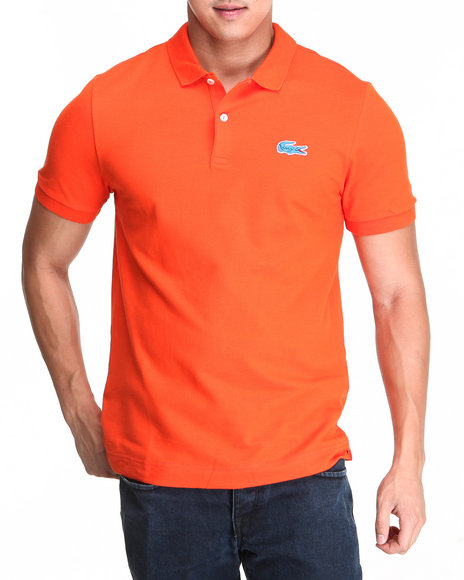 Lacoste Live - Men Orange L!Ve S/S Stretch Croc Pique Polo