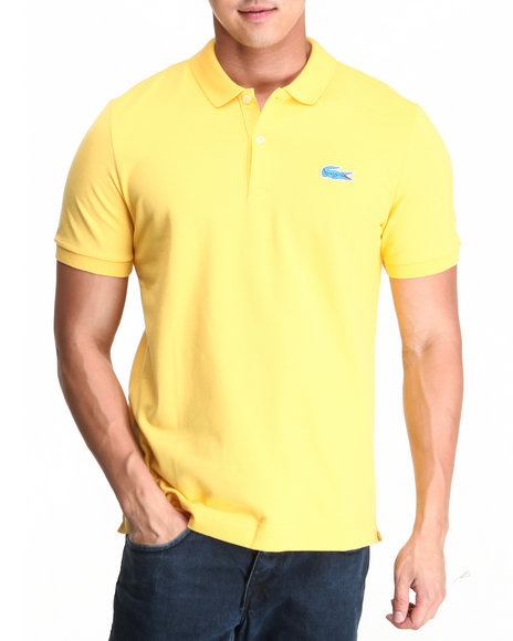 Lacoste Live - Men Yellow L!Ve S/S Stretch Croc Pique Polo