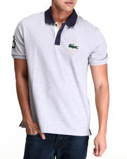 Men - S/S Applique Croc Pique Polo