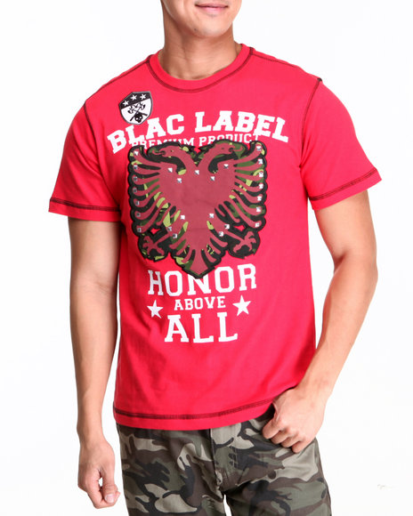 Blac Label Men Red B L Eagle Honor S/S Tee