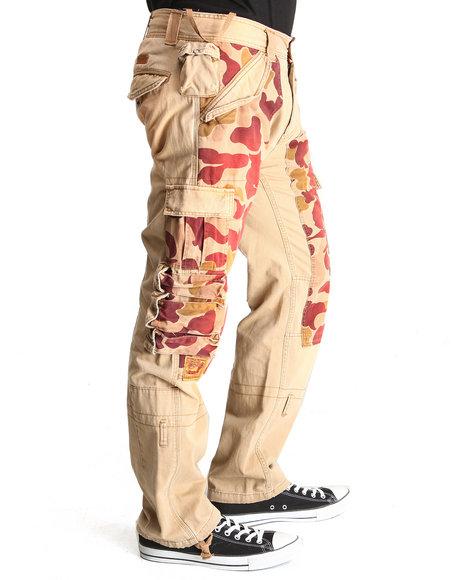 Heritage America Khaki 1776 Twill / Camo Mix Cargo Pants