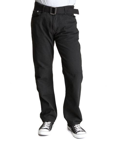 Basic Essentials Black Belted Colored Denim Jean
