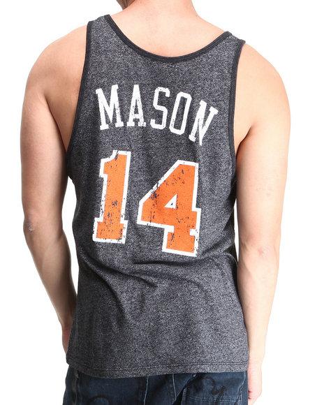 Nba, Mlb, Nfl Gear - Men Charcoal New York Knicks Anthony Mason Vintage Player Tri Blend Tank Top (Drjays.Com Exclusive)