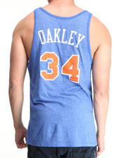 Men - New York Knicks Charles Oakley Vintage Player Tri Blend Tank Top (Drjays.com Exclusive)