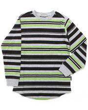 Sizes 8-20 - Big Kids - L/S STRIPED CREW NECK TEE (8-20)
