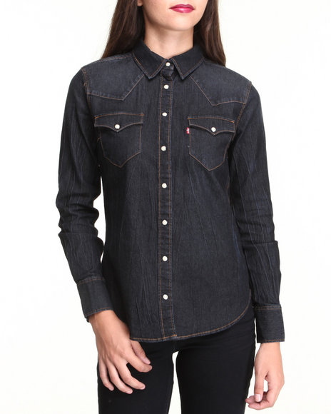 Levi's Dark Blue Annie Classic Denim Shirt